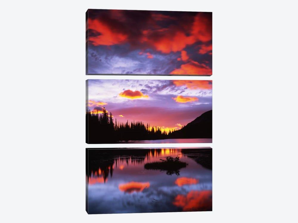 Cloudy Sunset II, Reflection Lake, Mount Rainier National Park, Washington, USA by Charles Gurche 3-piece Art Print