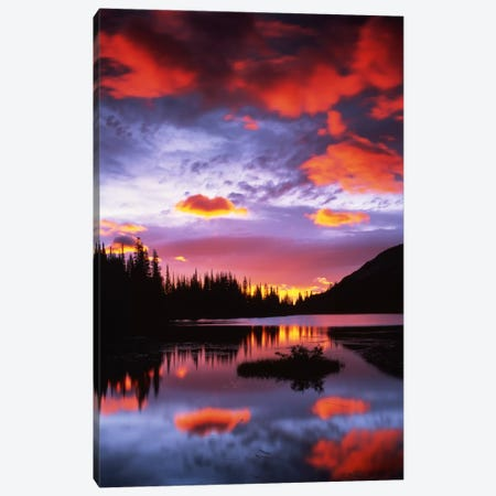 Cloudy Sunset II, Reflection Lake, Mount Rainier National Park, Washington, USA Canvas Print #CGU8} by Charles Gurche Canvas Wall Art