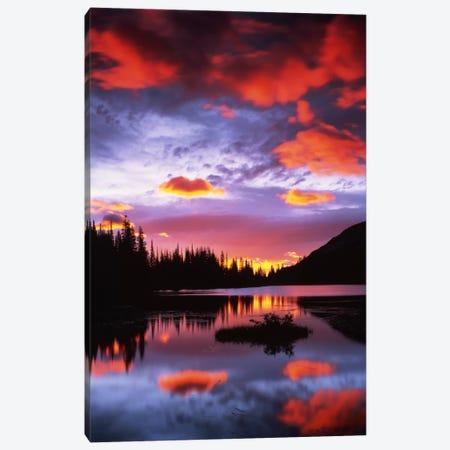Cloudy Sunset II, Reflection Lake, Mount Rainier National Park, Washington, USA Canvas Print #CGU8} by Charles Gurche Canvas Wall Art