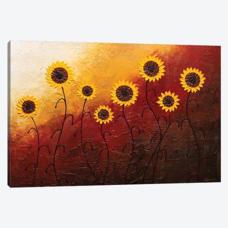Sunflower Garden Canvas Print #CGZ15} by Carmen Guedez Canvas Wall Art
