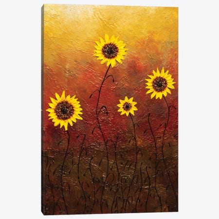 Sunflowers Canvas Print #CGZ16} by Carmen Guedez Canvas Artwork