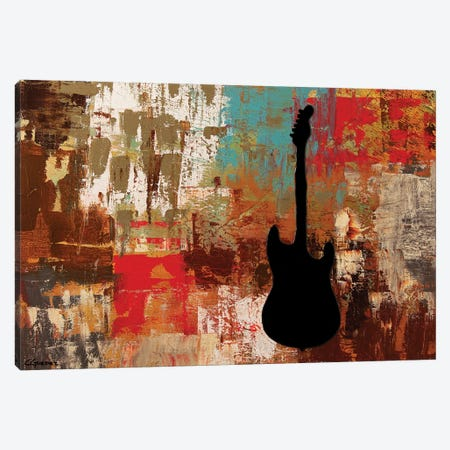 Guitar Solo Canvas Print #CGZ20} by Carmen Guedez Canvas Wall Art