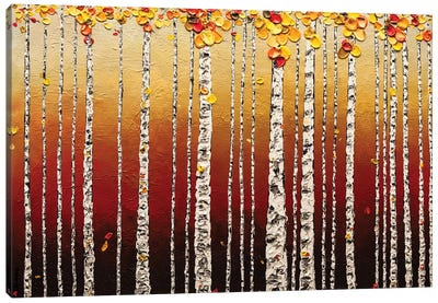 Birch Trees Canvas Art Print