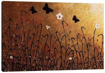 Butterflies Landscape Canvas Art Print