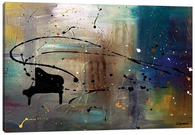 Jazz Night Canvas Art Print