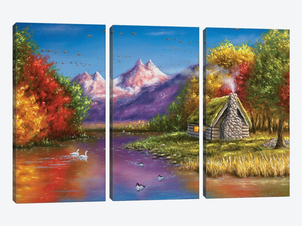 Autumn's Perfection by Chuck Black 3-piece Canvas Artwork