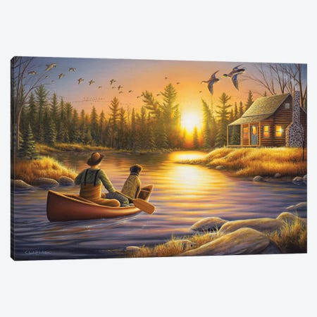 Best Friends Forever 3-Piece Canvas #CHB16} by Chuck Black Canvas Art