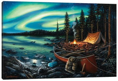 Campfire Memories Canvas Art Print