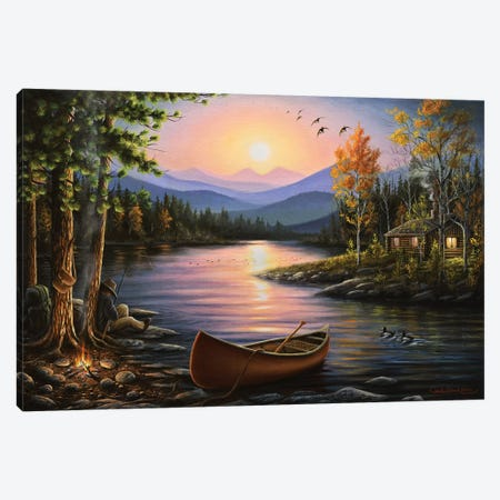 Campfire Stories Canvas Print #CHB20} by Chuck Black Canvas Wall Art