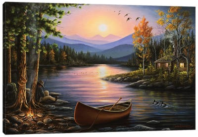 Campfire Stories Canvas Art Print