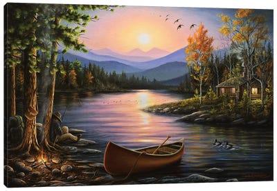 Campfire Stories Canvas Art Print