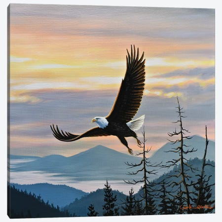 Conquered Canvas Print #CHB21} by Chuck Black Canvas Wall Art