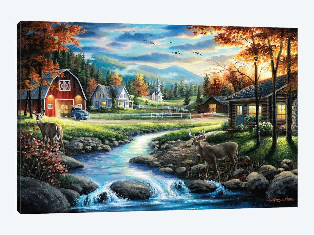 Country Living by Chuck Black 1-piece Canvas Print