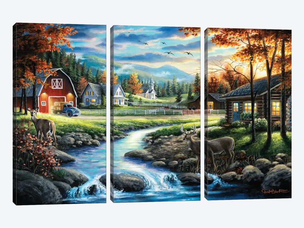 Country Living by Chuck Black 3-piece Art Print