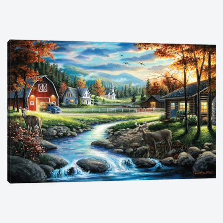 Country Living 3-Piece Canvas #CHB22} by Chuck Black Canvas Artwork