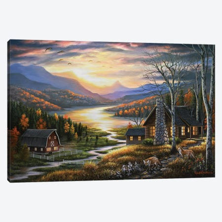 Evening Guests Canvas Print #CHB23} by Chuck Black Canvas Artwork