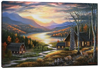 Evening Guests Canvas Art Print