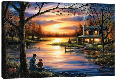 Father And Son Canvas Art Print