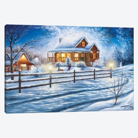 Friday Night Joys Canvas Print #CHB28} by Chuck Black Canvas Artwork