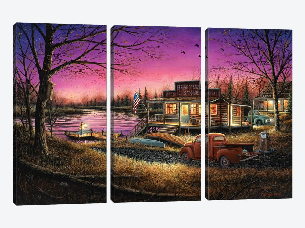 A Perfect Evening by Chuck Black 3-piece Canvas Artwork