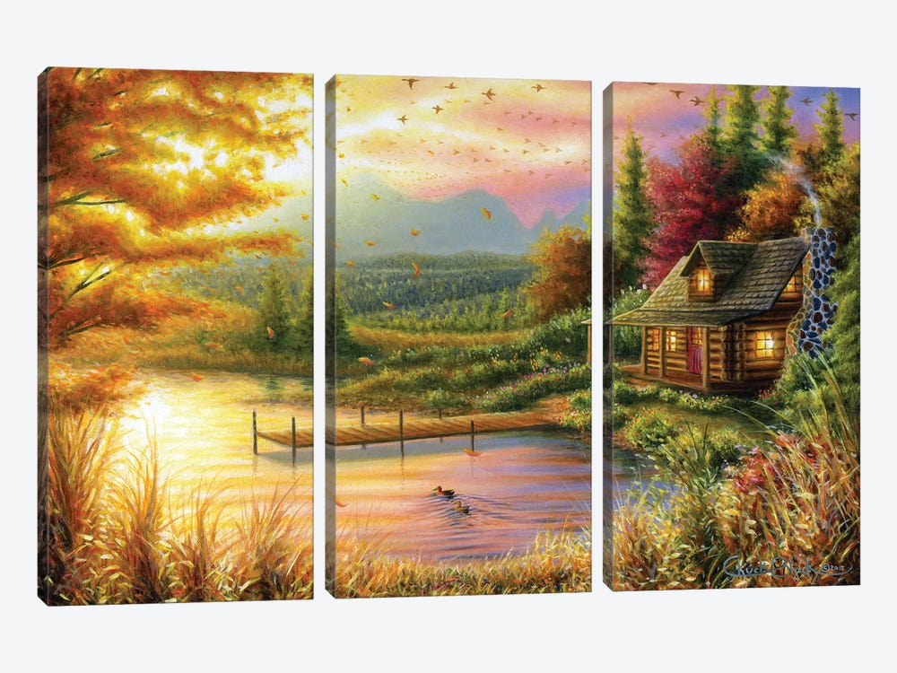 High-Country Cinnamon by Chuck Black 3-piece Canvas Art Print