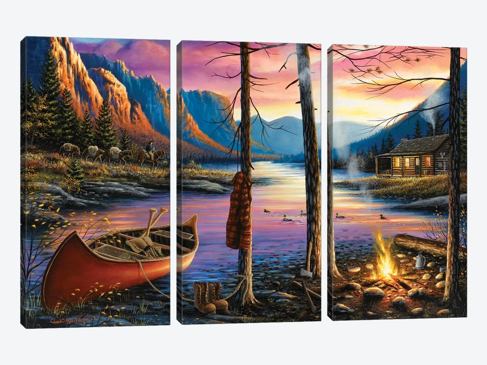 Home Sweet Home by Chuck Black 3-piece Canvas Artwork