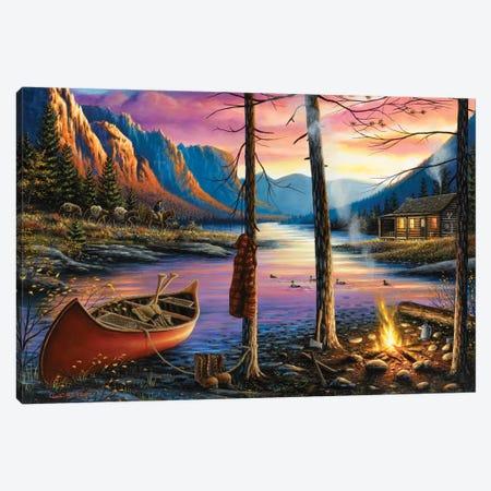 Home Sweet Home Canvas Print #CHB32} by Chuck Black Canvas Art Print