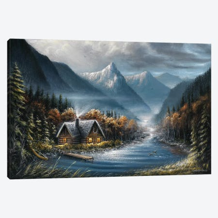 Lost Creek Canvas Print #CHB35} by Chuck Black Canvas Art
