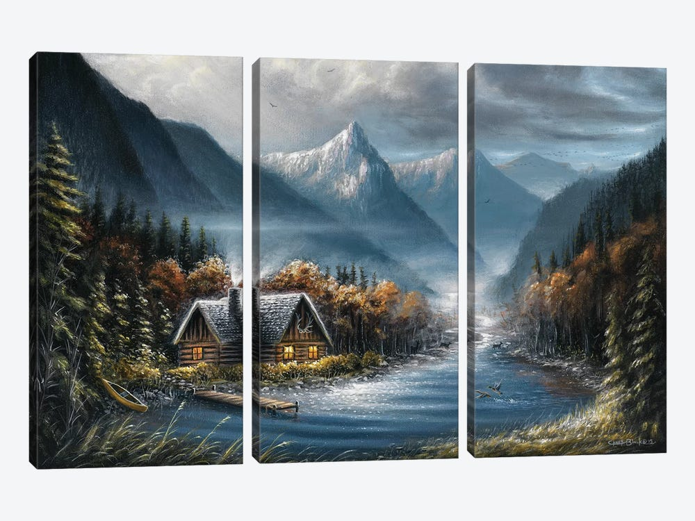 Lost Creek by Chuck Black 3-piece Canvas Art Print