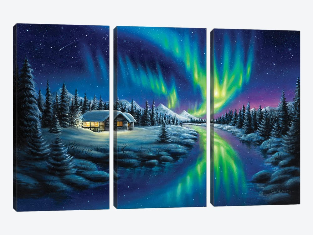 Make A Wish by Chuck Black 3-piece Canvas Print