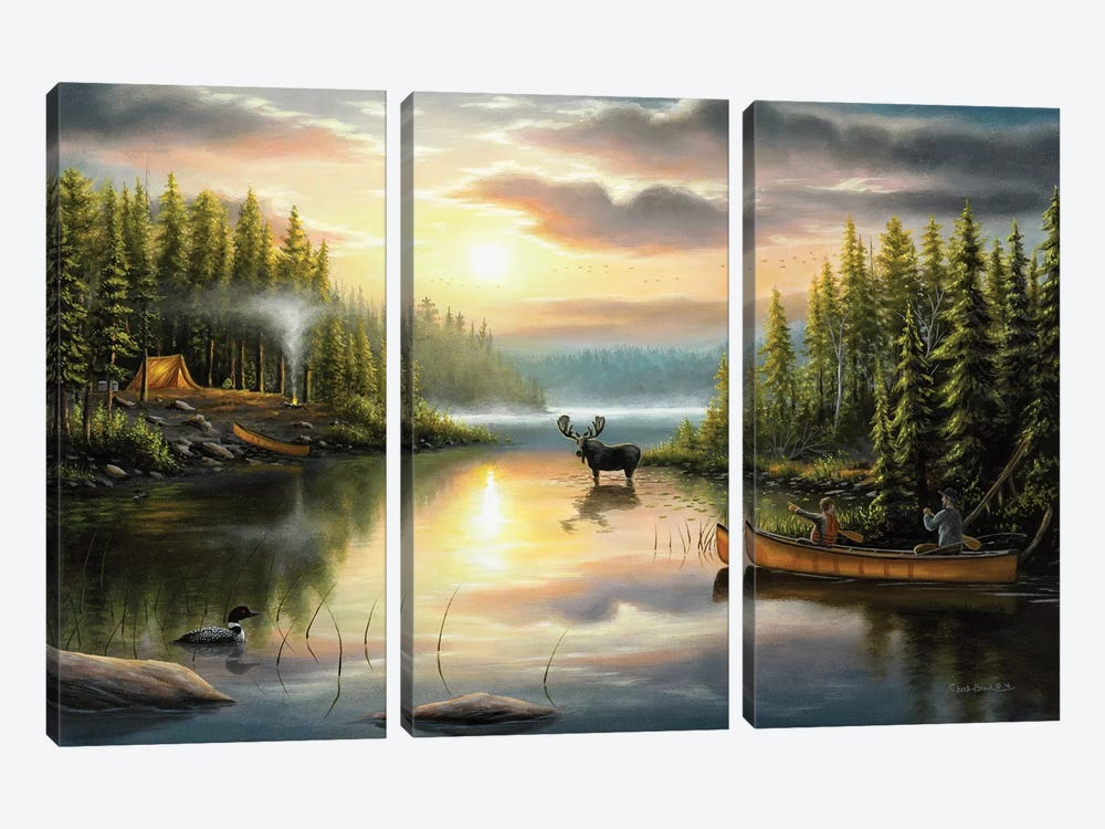 Memories With Dad by Chuck Black 3-piece Canvas Print