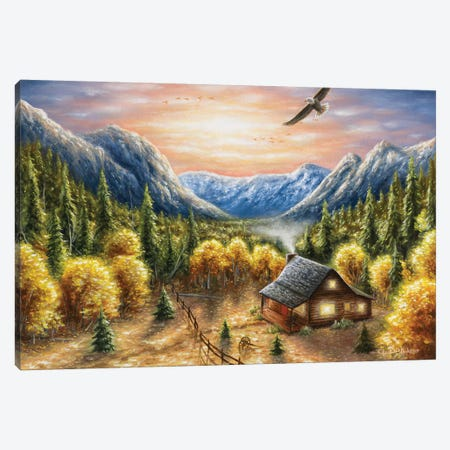 Mountainous Dreams Canvas Print #CHB41} by Chuck Black Canvas Artwork