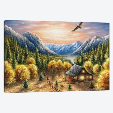Mountainous Dreams Canvas Print #CHB41} by Chuck Black Canvas Artwork