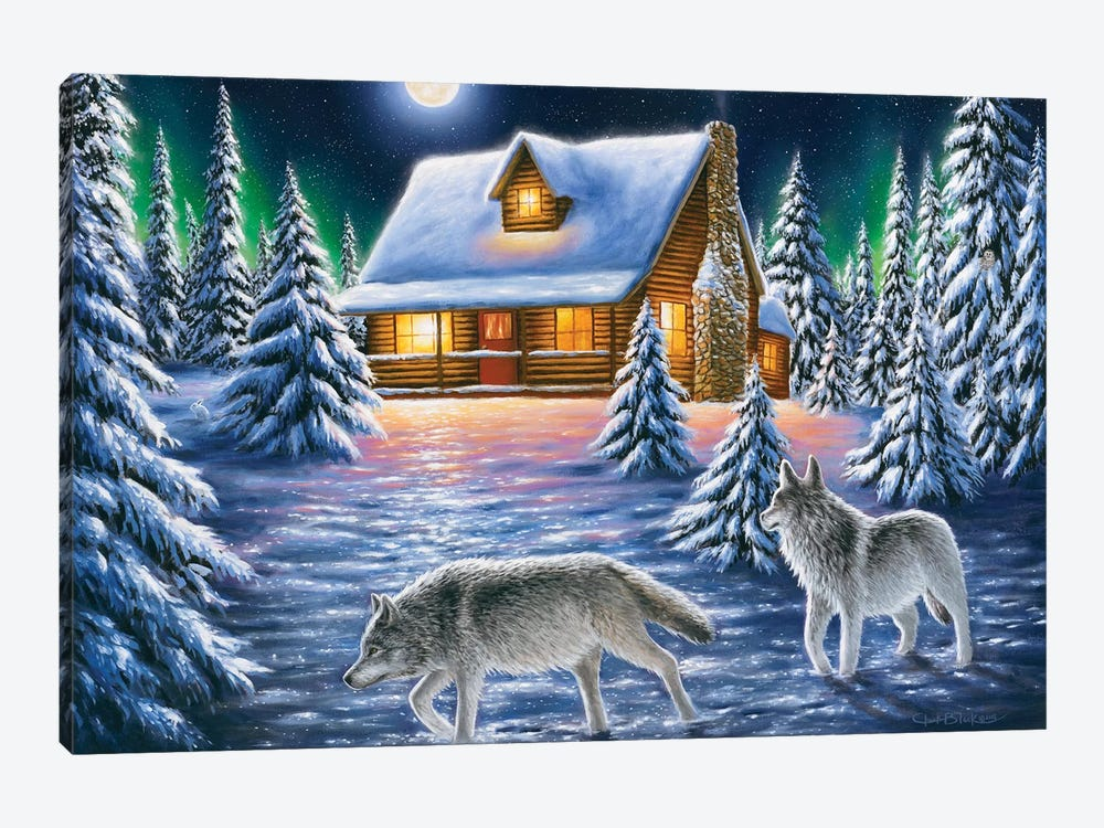 Nighttime Prowl by Chuck Black 1-piece Canvas Wall Art