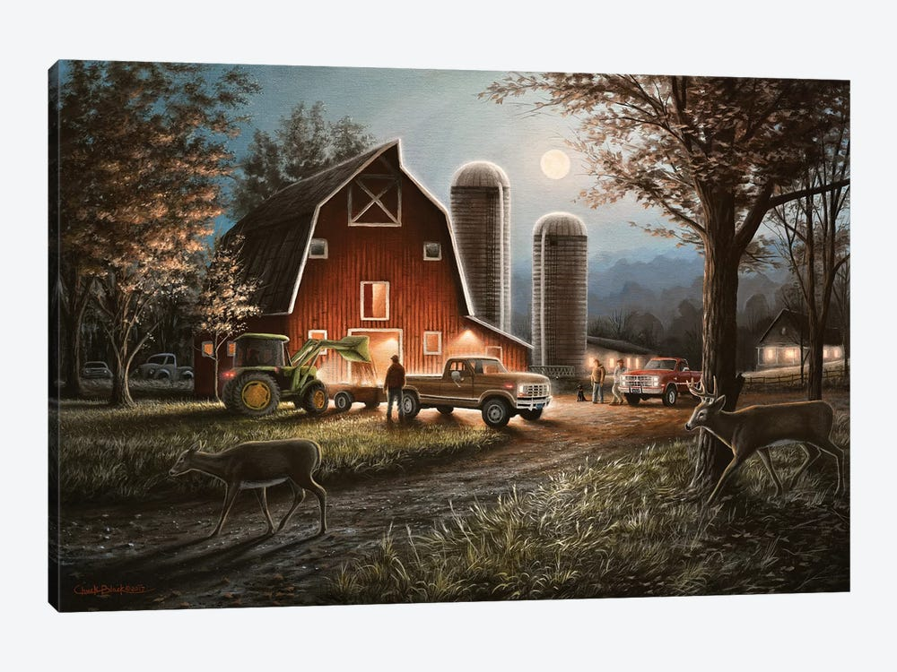 October Nights by Chuck Black 1-piece Canvas Print