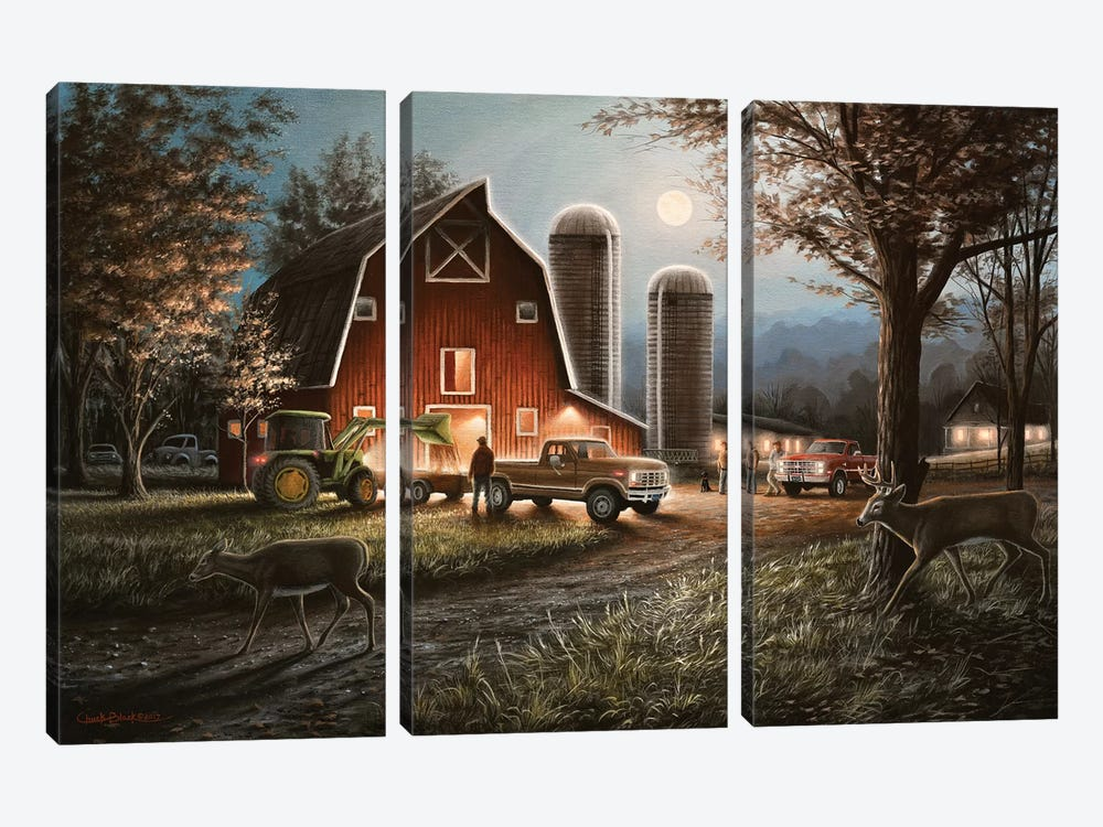 October Nights by Chuck Black 3-piece Canvas Print