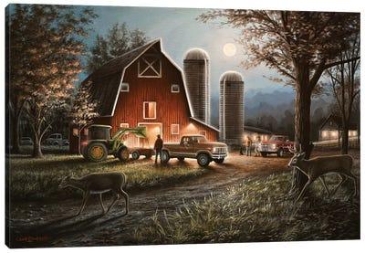 October Nights Canvas Art Print