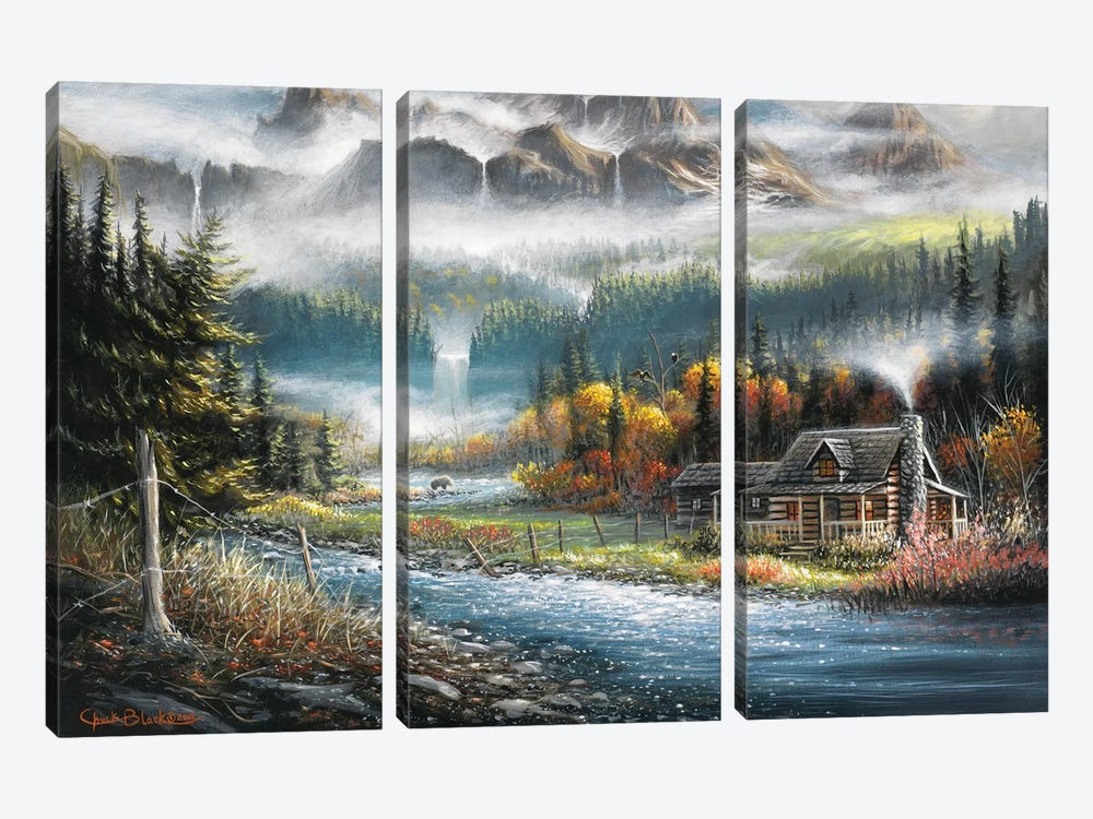 Paradise Valley by Chuck Black 3-piece Canvas Art Print