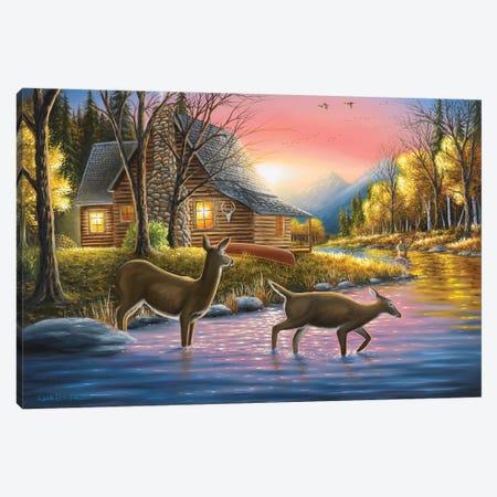 River's Crossing Canvas Print #CHB50} by Chuck Black Art Print