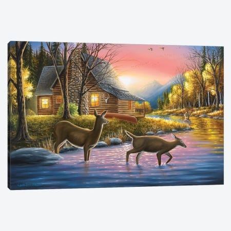 River's Crossing Canvas Print #CHB50} by Chuck Black Art Print