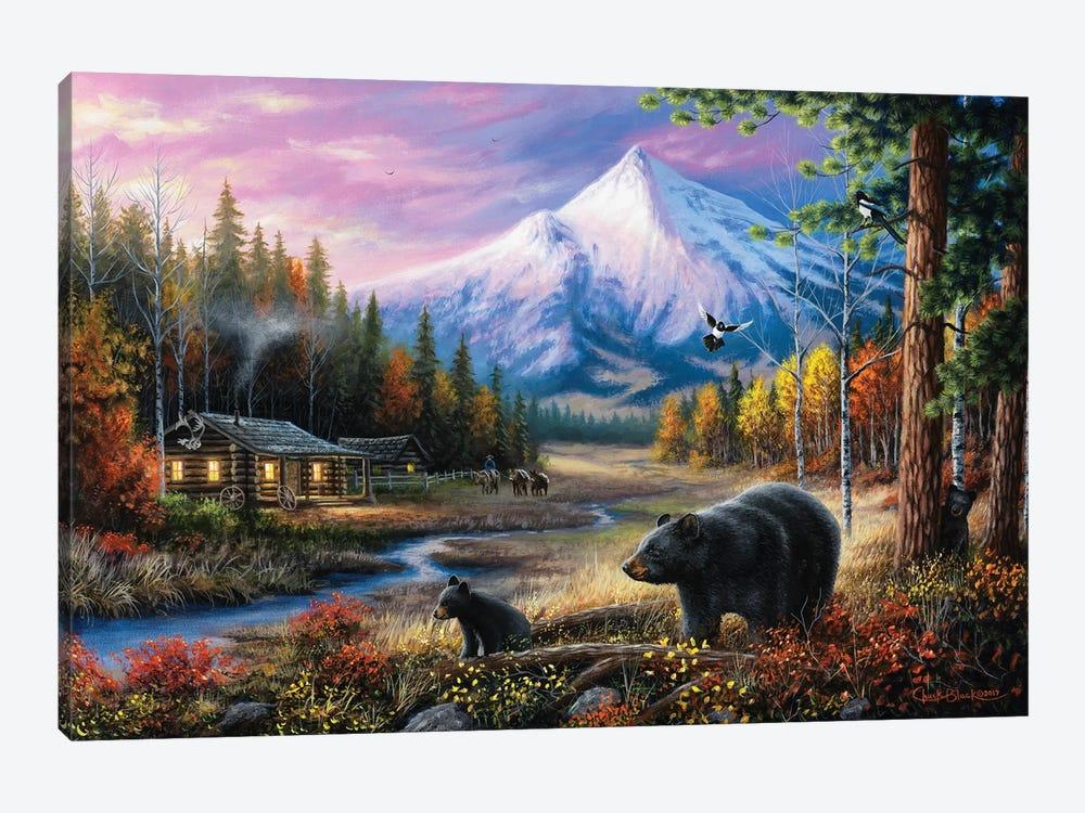 Routine Visitors by Chuck Black 1-piece Art Print