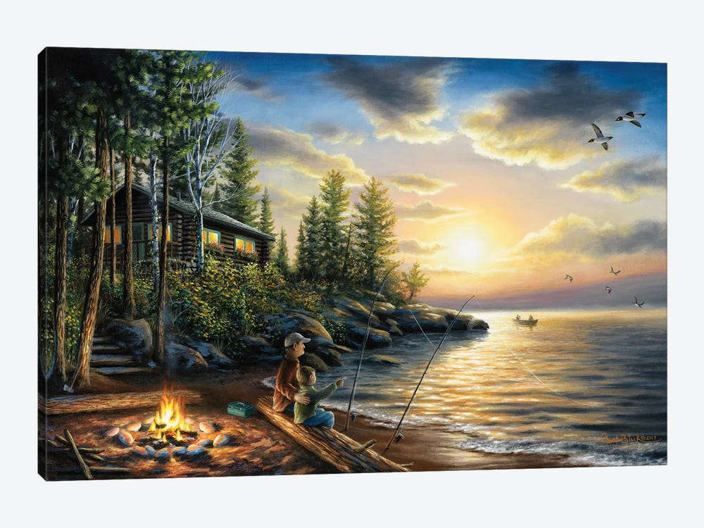 Summer Nights by Chuck Black 1-piece Canvas Wall Art