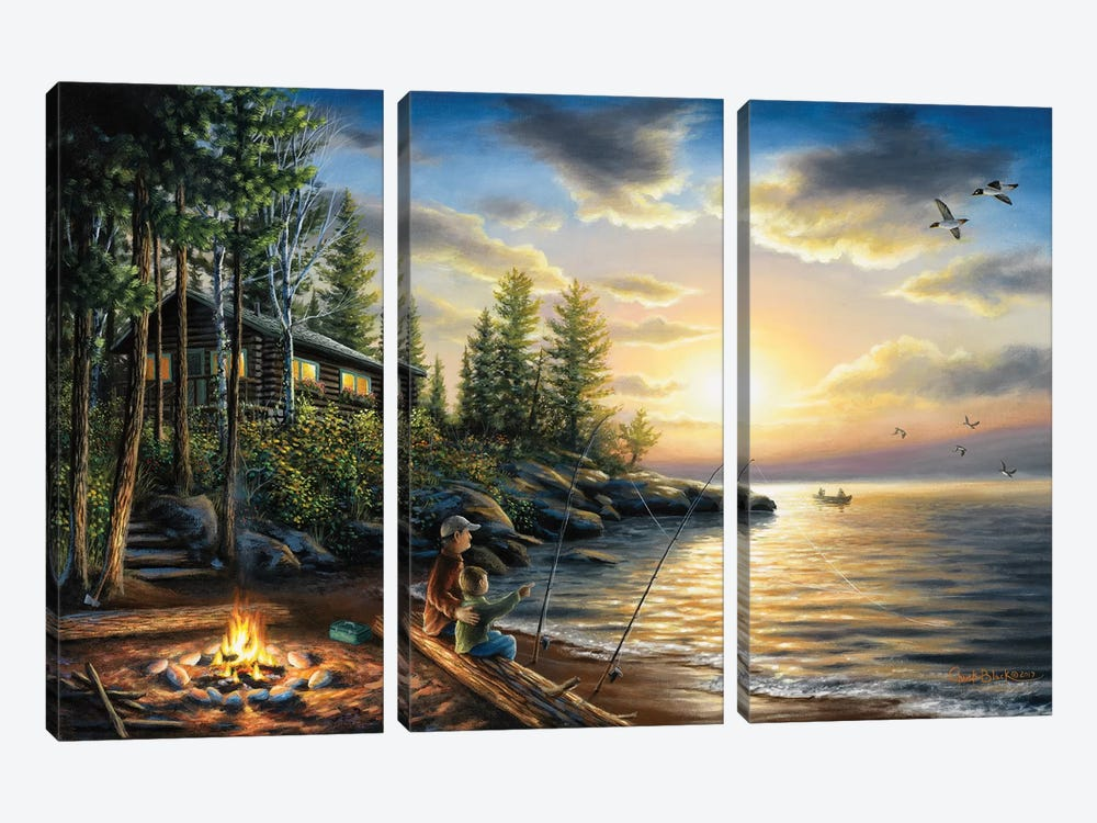 Summer Nights by Chuck Black 3-piece Canvas Wall Art