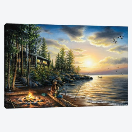 Summer Nights 3-Piece Canvas #CHB58} by Chuck Black Canvas Print