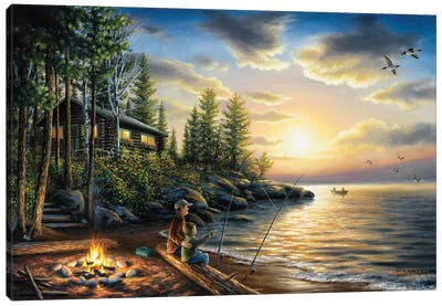 Summer Nights Canvas Art Print