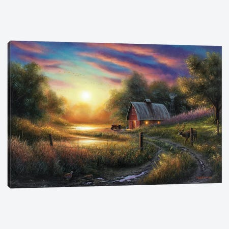 The Evening Routine Canvas Print #CHB62} by Chuck Black Canvas Wall Art