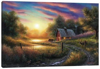 The Evening Routine Canvas Art Print