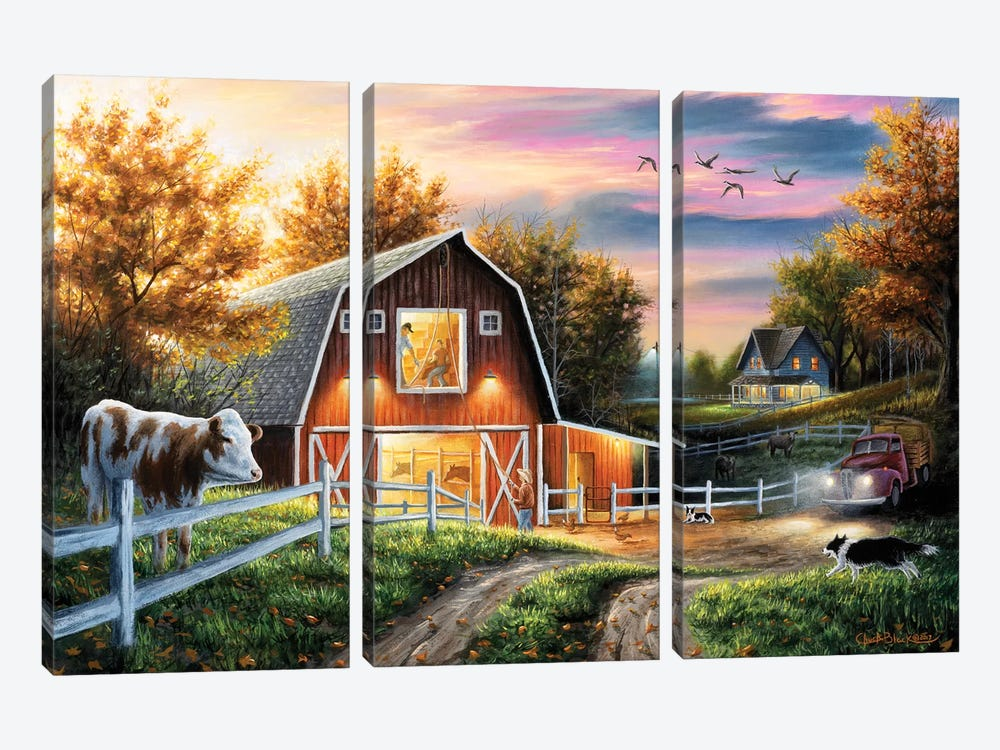 The Good Life by Chuck Black 3-piece Canvas Art Print