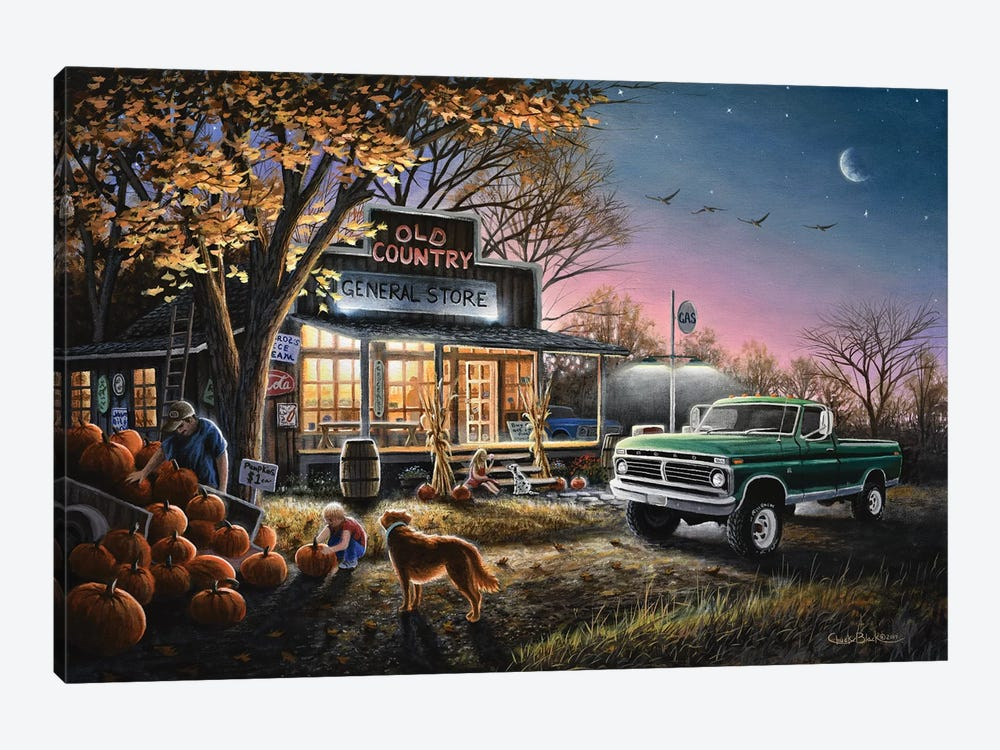 The Harvest Moon by Chuck Black 1-piece Canvas Wall Art