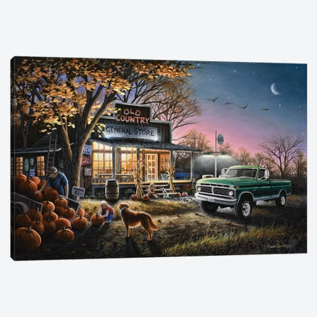 The Harvest Moon Canvas Print #CHB65} by Chuck Black Canvas Art Print